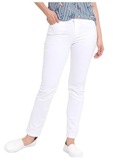 LC Waikiki Yüksek Bel Jean Pantolon Beyaz